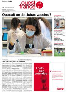 Ouest-France Édition France – 20 novembre 2020