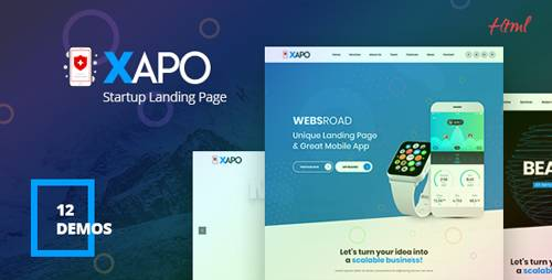 ThemeForest - Xapo v1.0 - Responsive Landing Page Template - 21257691