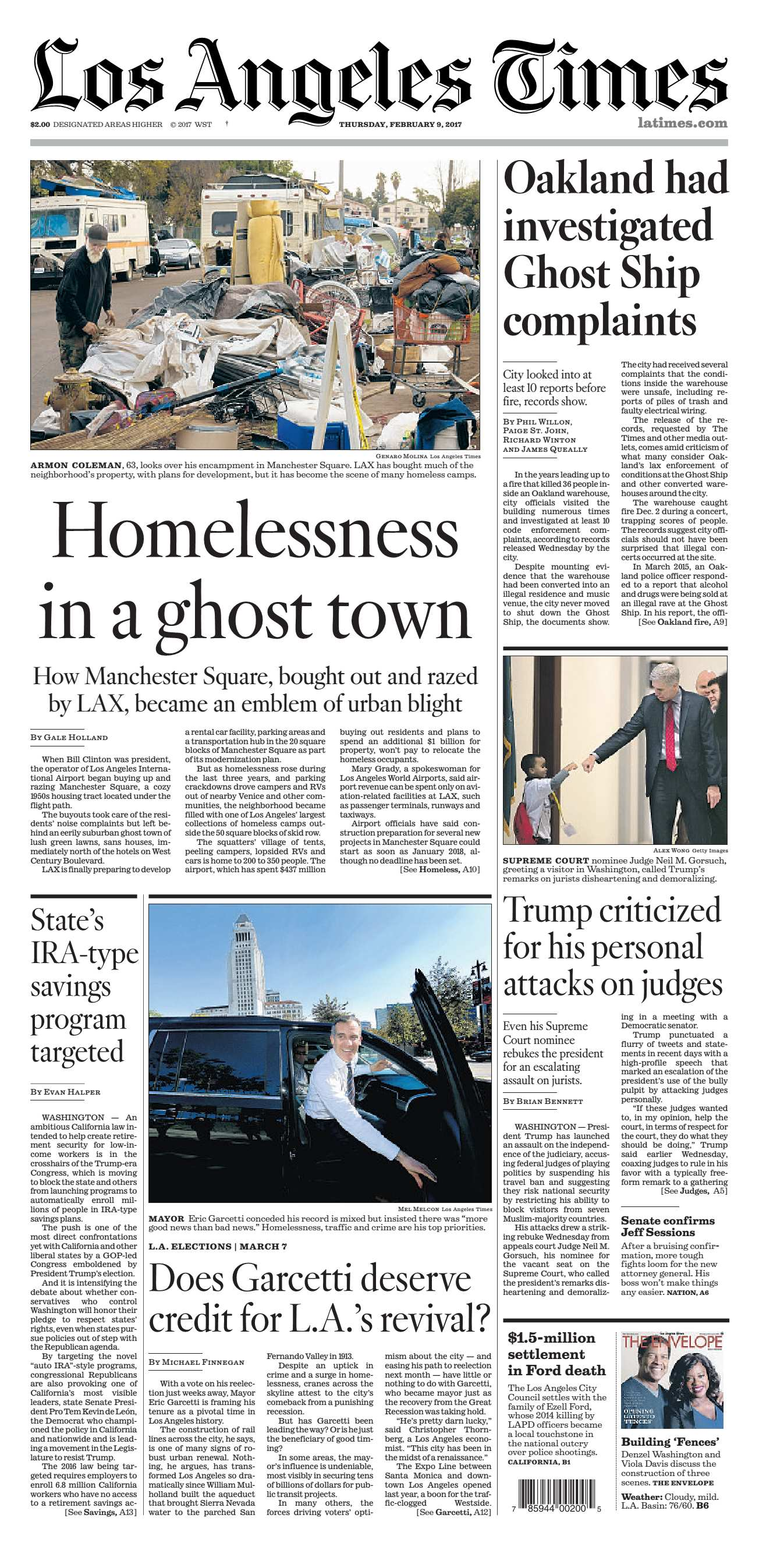 Los Angeles Times  February 09 2017