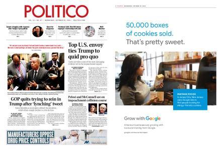 Politico – October 23, 2019