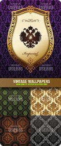 Stock Vector - Vintage Wallpapers