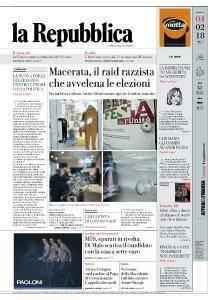 la Repubblica - 4 Febbraio 2018