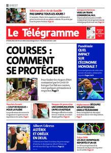 Le Télégramme Brest Abers Iroise – 25 mars 2020