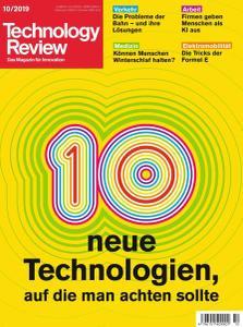 Technology Review - Oktober 2019