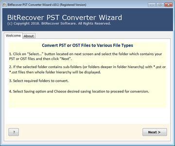 BitRecover PST Converter Wizard 10.8.3