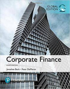 Corporate Finance, Global Edition, 4 edition