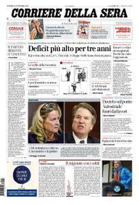 Corriere della Sera – 28 settembre 2018