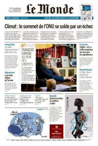 Le Monde du Mercredi 25 Septembre 2019