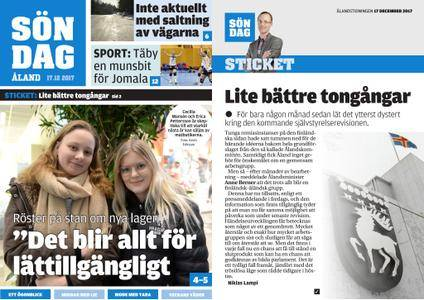 Ålandstidningen – 17 december 2017