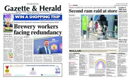 Gazette & Herald – January 25, 2018