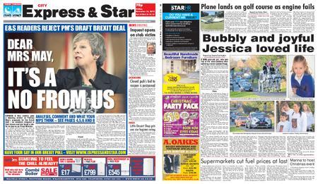 Express and Star City Edition – November 16, 2018
