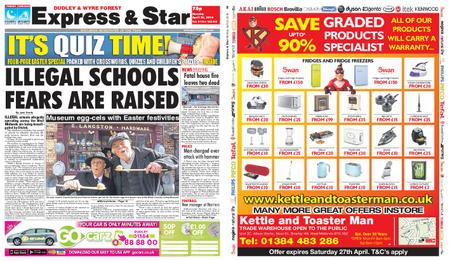 Express and Star Dudley and Wyre Forest Edition – April 22, 2019