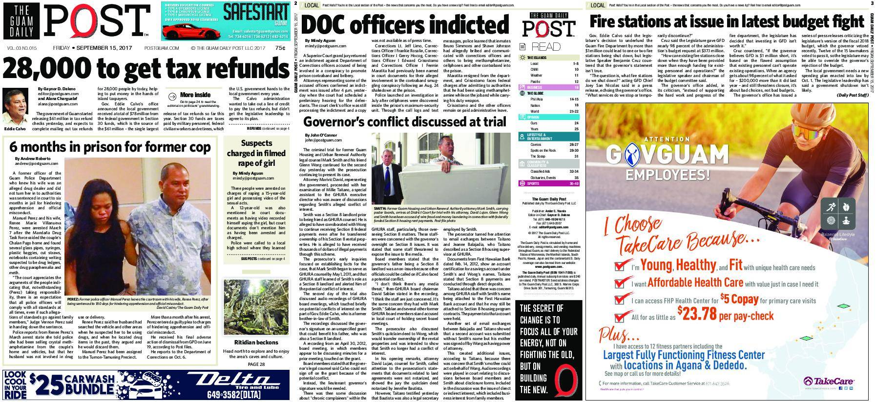The Guam Daily Post – September 15, 2017