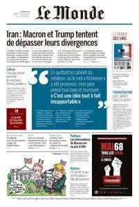 Le Monde du Jeudi 26 Avril 2018