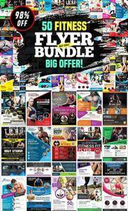 CreativeMarket - 50-Fitness Flyers Bundle Template