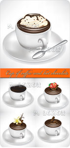 Cup of coffee and hot chocolate