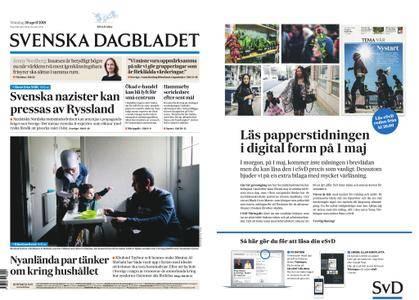 Svenska Dagbladet – 30 april 2018