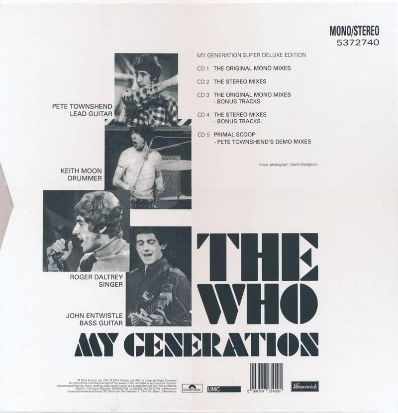 The Who - My Generation (1965) [2016, 5CD Box Set]