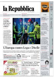 la Repubblica - 17 Gennaio 2018