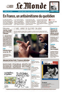 Le Monde du Vendredi 3 Novembre 2017