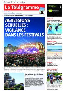 Le Télégramme Brest Abers Iroise – 16 juillet 2019