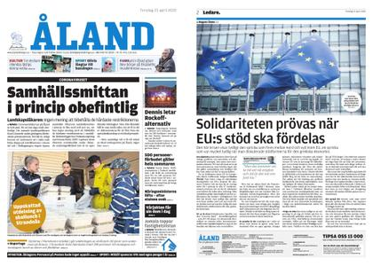 Ålandstidningen – 23 april 2020