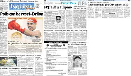 Philippine Daily Inquirer – January 11, 2004