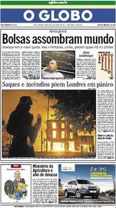 Jornal O Globo - 9 de agosto de 2011