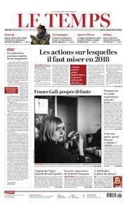 Le Temps - 08 janvier 2018
