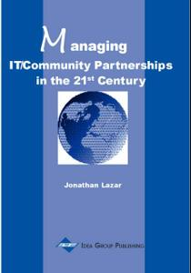 Managing IT/Community Partnerships in the 21st Century: Jonathan Lazar