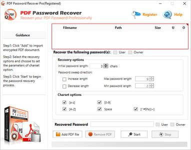 PDF Password Recover Pro 4.0.0.0