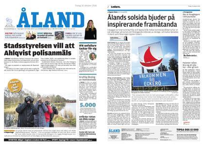 Ålandstidningen – 30 oktober 2018