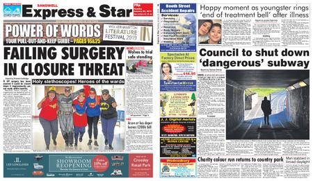 Express and Star Sandwell Edition – January 29, 2019