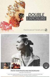 CreativeMarket - Double Exposure Photoshop Template
