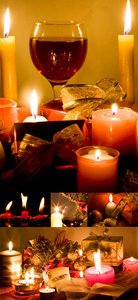 Candles and gift