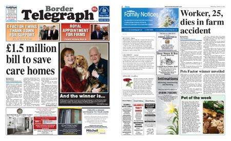 Border Telegraph – October 30, 2019
