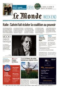 Le Monde du Samedi 10 Août 2019