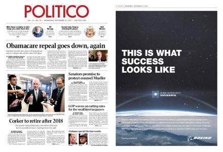 Politico – September 27, 2017