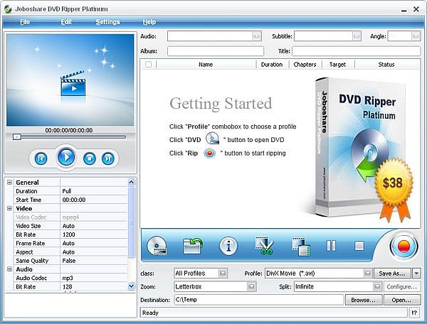 Joboshare DVD Ripper Platinum 2.5.0 Build 03.06 Portable