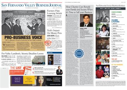 San Fernando Valley Business Journal – May 27, 2019