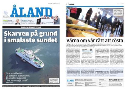 Ålandstidningen – 13 april 2019