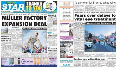 Shropshire Star Shrewsbury Edition – April 16, 2018