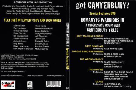 VA: Romantic Warriors III - Special Features DVD - Got Canterbury? (2016)