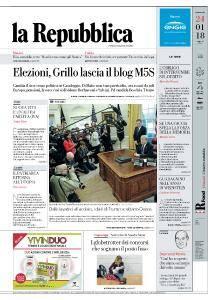 la Repubblica - 24 Gennaio 2018