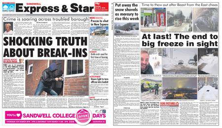 Express and Star Sandwell Edition – March 05, 2018