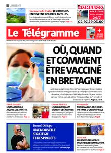 Le Télégramme Lorient – 16 janvier 2021