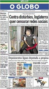 Jornal O Globo - 12 de agosto de 2011