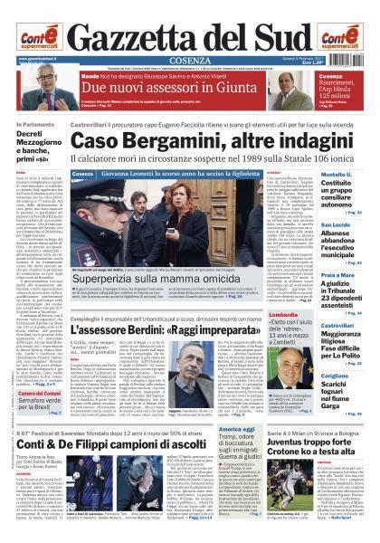 Gazzetta del Sud Cosenza - 9 Febbraio 2017