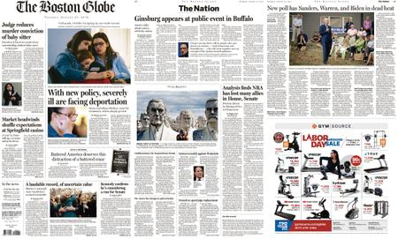 The Boston Globe – August 27, 2019