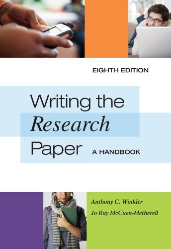 Writing the Research Paper: A Handbook, 8 edition (repost)